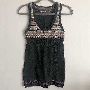 Talula (Aritzia) Lambswool Fairisle Tunic Sweater